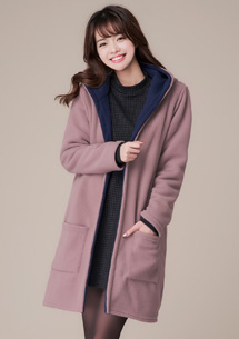 韓暖雙面穿搖粒絨外套