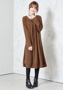 甜柔舒心針織寬鬆洋裝