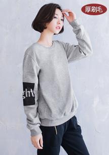 韓系街頭厚刷毛上衣