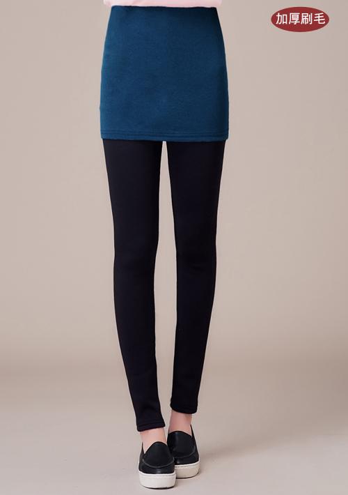 超暖加厚刷毛窄裙內搭褲