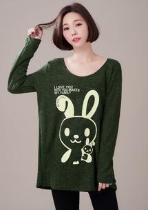 可愛萌兔針織上衣