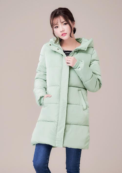 蓬厚禦寒厚鋪棉長版外套