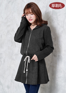 暖感厚刷毛洋裝式外套