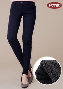 超彈舒暖搖粒絨窄管褲