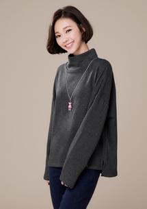 休閒韓風高領厚棉上衣