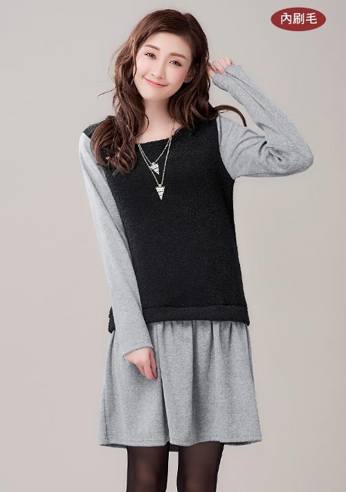 暖感冬氛加厚圈圈絨洋裝