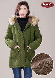 極暖展現羊羔絨長版外套
