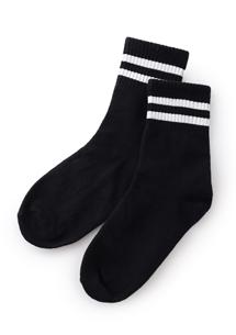 韓系學院風配色中筒襪