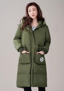 極地禦寒厚鋪棉長版外套