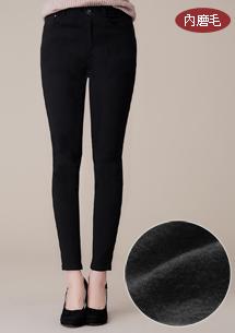 保暖內磨毛超彈窄管褲