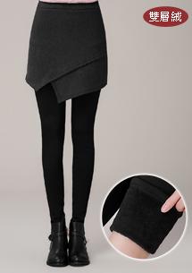 韓系短裙雙層絨內搭褲
