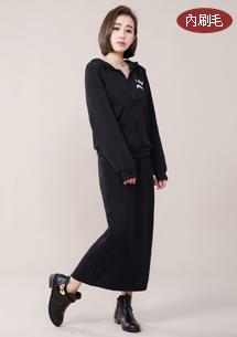 兩件式韓版刷毛針織套組