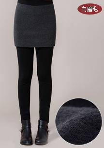 保暖圈圈絨短裙內搭褲