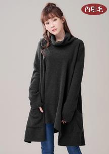 韓風設計高領圈圈絨上衣