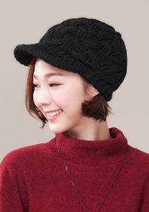 清新色調針織毛帽