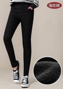 纖腿美型搖粒絨窄管褲