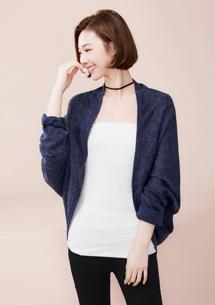 韓式造型修身針織外套