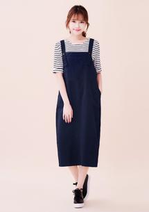嚴選寬鬆長版吊帶裙
