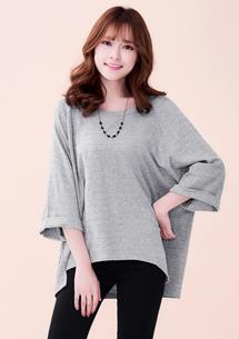 韓風寬版造型針織上衣