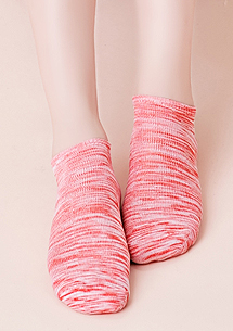 麻花混色棉柔短襪