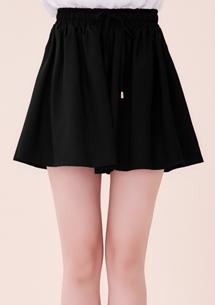 好感純色寬版褲裙
