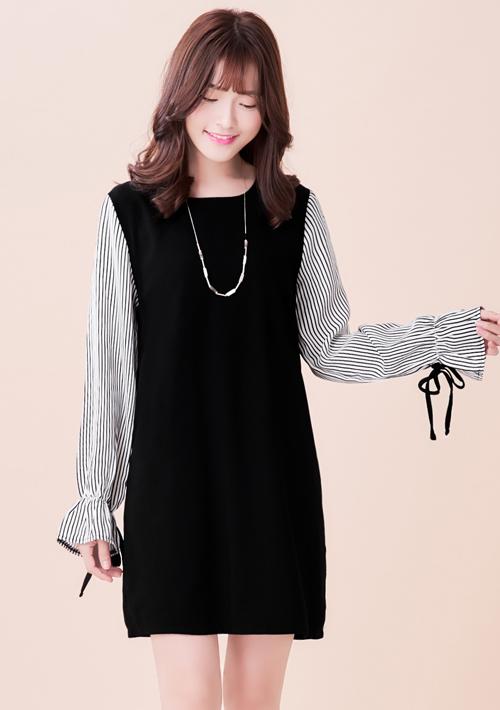 韓品氣質雪紡洋裝