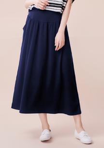 舒柔氛圍修身四面彈長裙