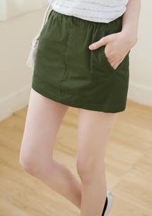 簡約俐落卡其褲裙