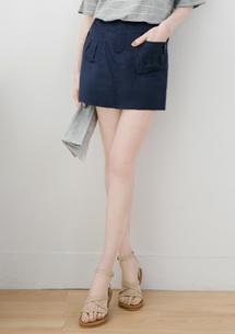 俏麗有型飾釦短褲裙