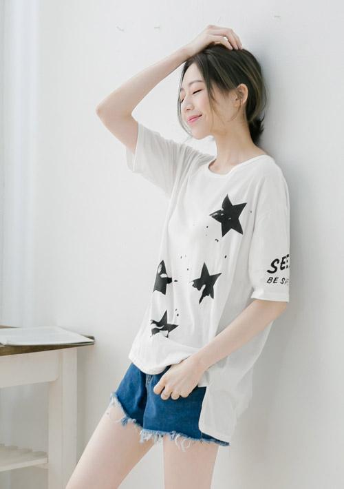 韓款個性星星上衣