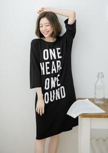 獨特韓流字母洋裝