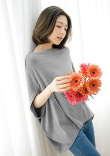 韓式穿搭修身寬版上衣