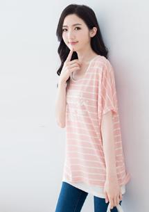 【限時$239】兩件式甜柔條紋上衣