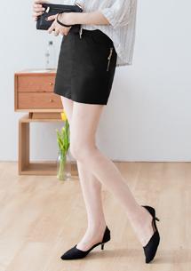 都會挺版拉鍊造型褲裙