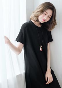 韓系慵懶反折袖長上衣