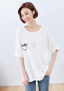 【限時$209】微笑造型袖棉質上衣