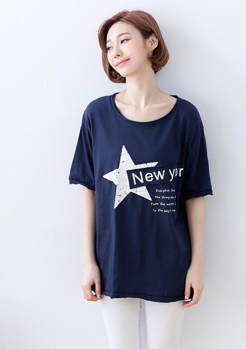 紐約之星不修邊造型上衣