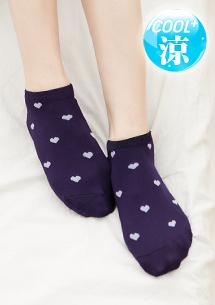 涼感舒柔愛心短襪