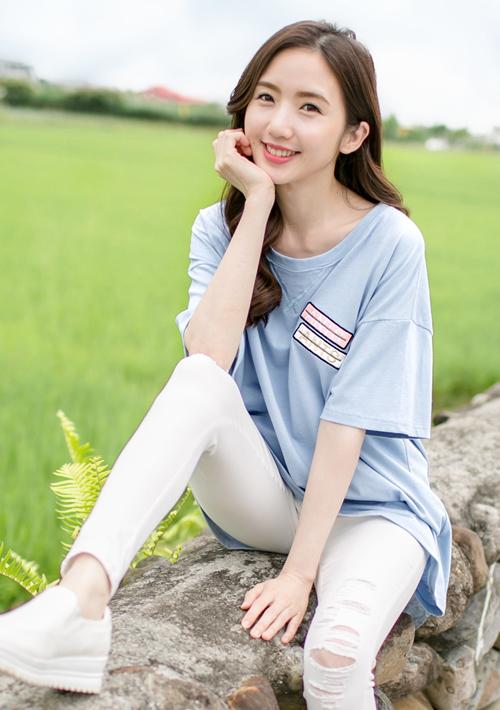 夏日繽紛刺繡棉質上衣