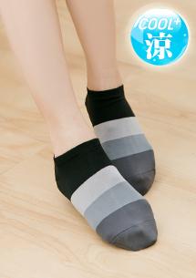 涼感配色舒爽短襪