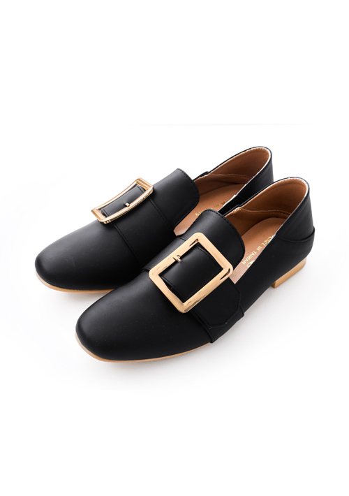 兩穿大方釦可後踩平底鞋