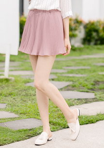 甜感迷人細百摺褲裙