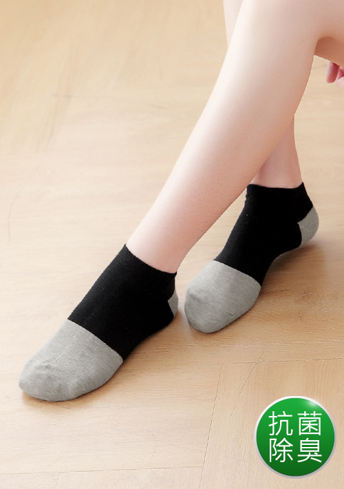 抗菌除臭竹炭短襪