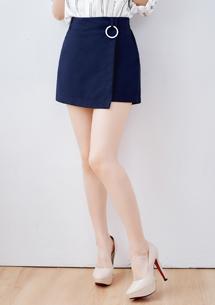 造型前片金屬圓環褲裙