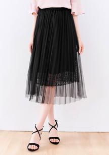 法式輕甜微蓬紗裙