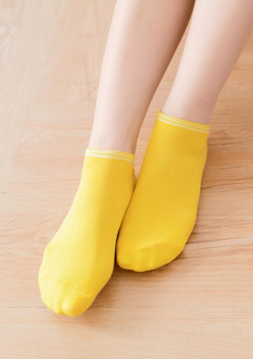 繽紛色系學院風舒柔短襪