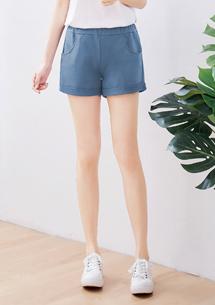 細毛圈反折短褲