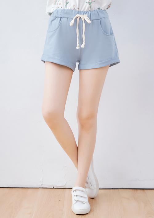 柔棉反折短褲