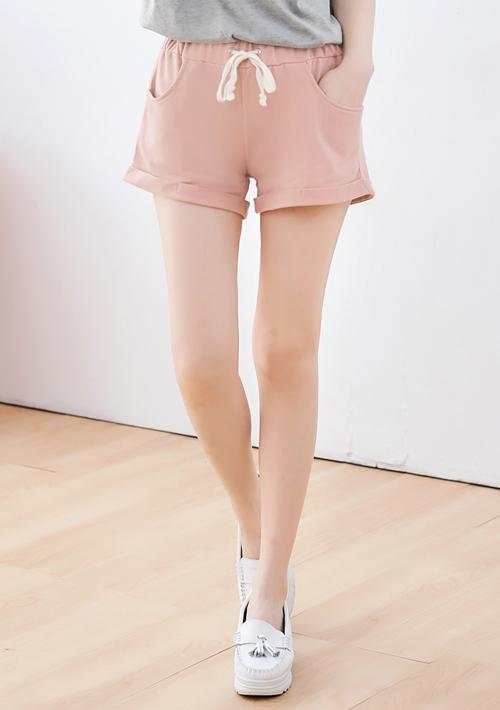 玩樂繽紛棉質反折短褲