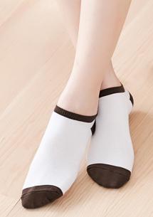 韓系馬卡龍配色舒柔短襪